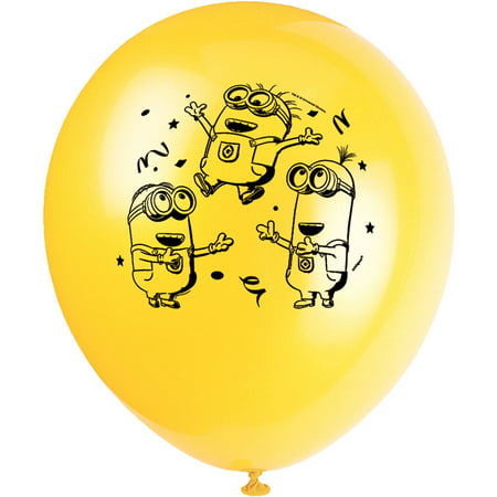 Latex Despicable Me Minions Balloons, 12 in, - Minions 1st Birthday
