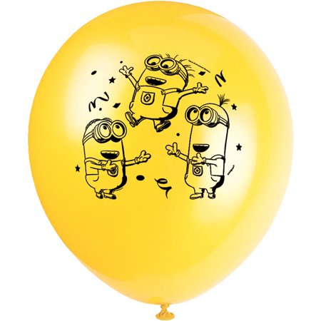 Latex Despicable Me Minions Balloons, 12 in, 8ct](Minion Party Balloons)