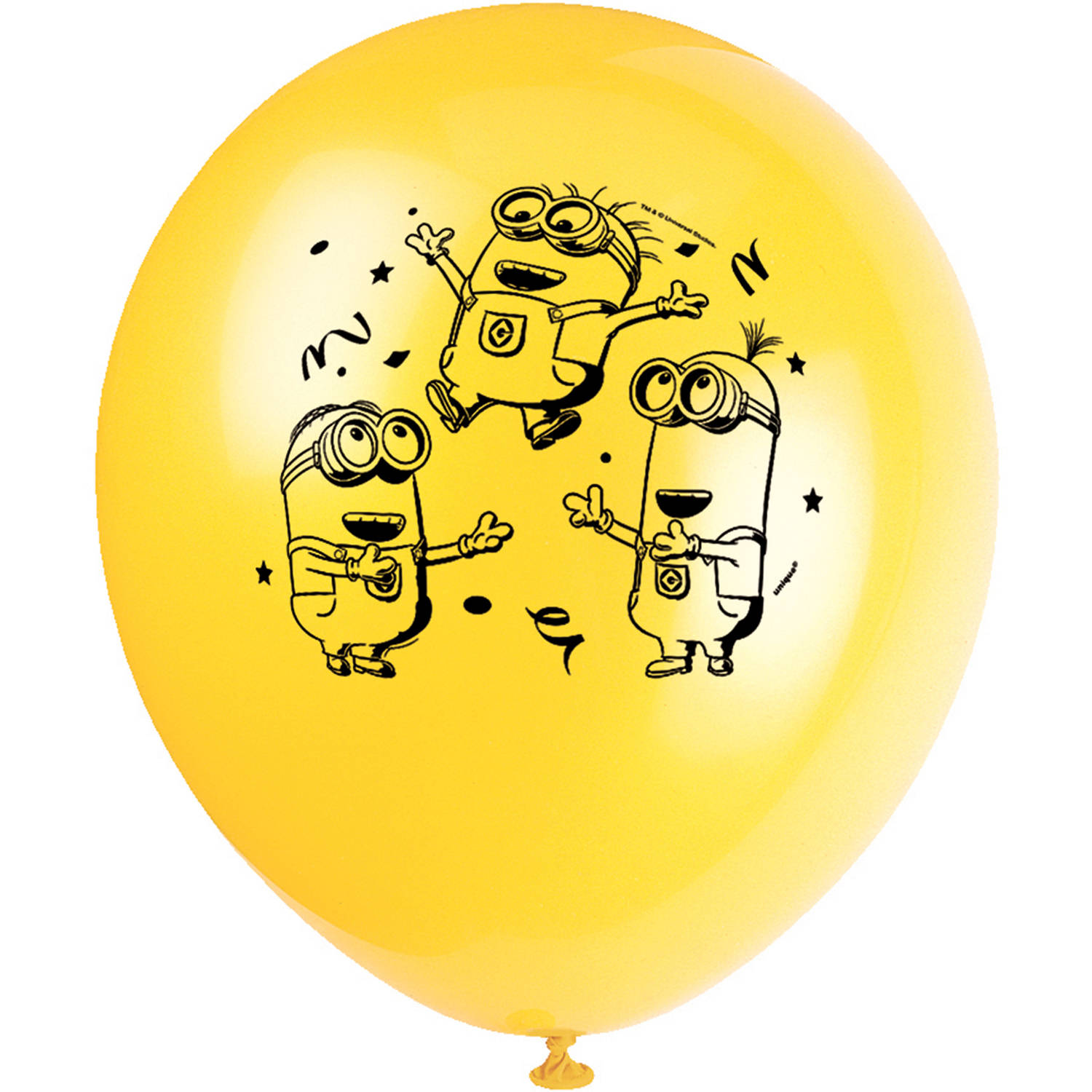 Latex Despicable Me Minions Balloons, 12 in, 8ct