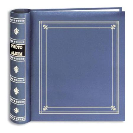 Holds 200 Photos - Pioneer Bi-Directional Spiral Bound Photo Album, Le Memo Pocket Photo Album, Solid Color Covers with Gold Trim, Holds 200 4x6