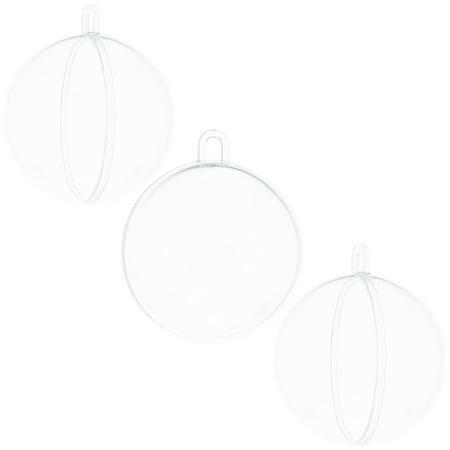 Clear Plastic Ornaments To Fill (BestPysanky Set of 3 Fillable Clear Plastic Ball Christmas Ornaments 2.36)