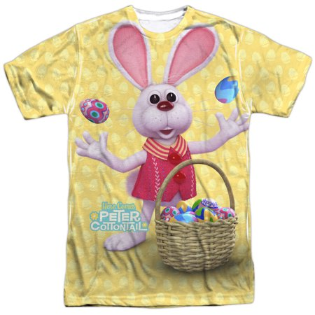 Here Comes Peter Cottontail Animated Easter Bunny Adult 2-Sided Print (Come To The Nerd Side T Shirt)