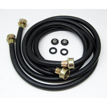 60FFK Washing Washer Machine Rubber Inlet Fill Hoses 5' Set of 2 Accessories Fill Hose 5 Feet