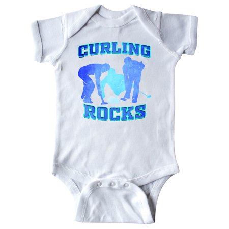 Curling Rocks Curler Gift Infant Creeper