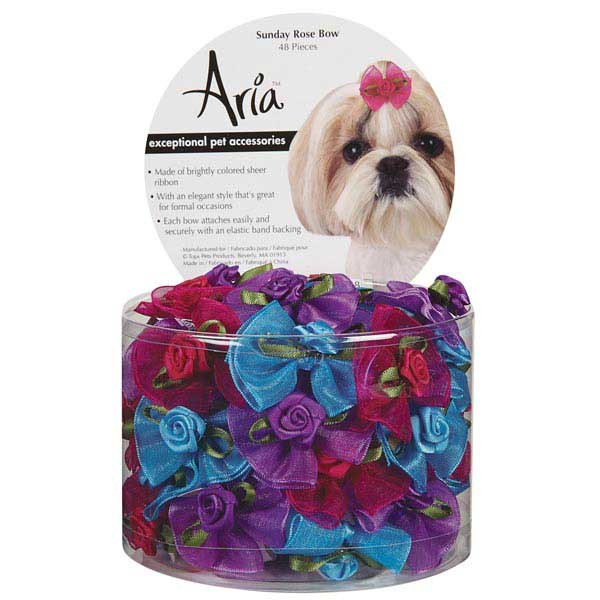 Aria Sunday Rose Bow Canister, 48 Pc