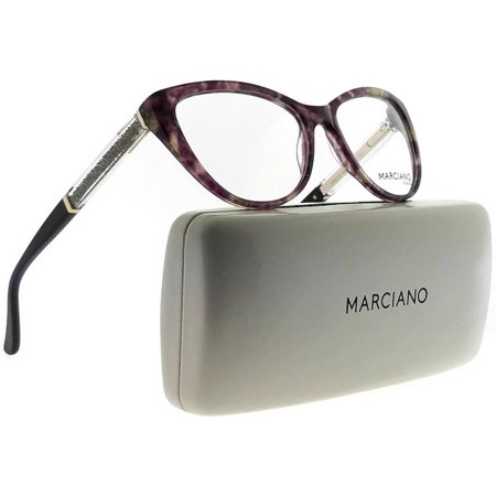 Guess By Marciano GM0312-083-53 Cat Eye Women Violet Frame Clear Lens Eyeglasses Cat Eye Frame