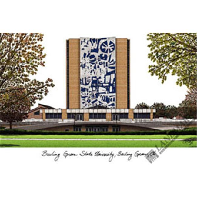 Bowling Green State University Campus Images Lithograph Print