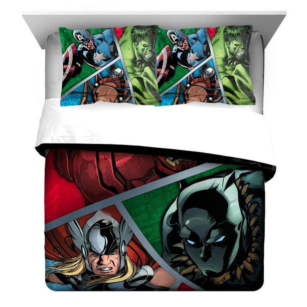 Marvel Avengers Metal Full Queen, Marvel Avengers Queen Bedding Set