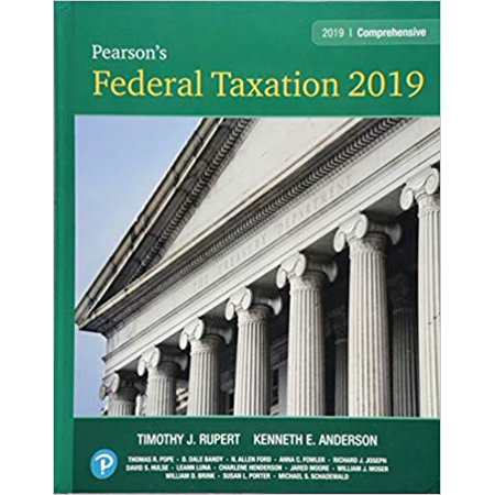 Pearson's Federal Taxation 2019 Comprehensive Plus Mylab Accounting with Pearson Etext -- Access Card