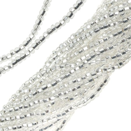 11 Silver Lined Seed Beads - Czech Seed Beads Crystal Silver Lined 11/0 (1 Hank)