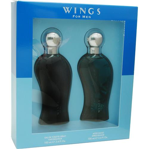 Wings Set-Edt Spray 3.4 Oz & Aftershave 3.4 Oz By Giorgio Beverly Hill
