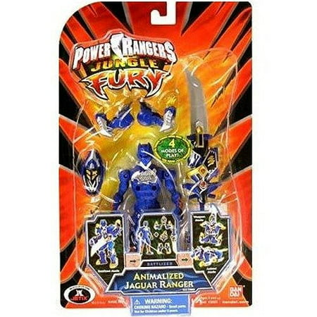 Power Rangers Jungle Fury Animalized Jaguar Ranger Action Figure - Jungle Fury Blue Ranger
