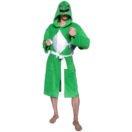 Power Rangers Green Ranger Adult Costume Robe - Green Power Ranger Costume For Adults