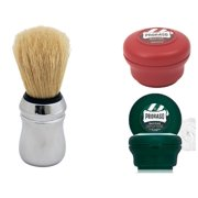 Proraso Sandalwood Shave Soap (5.1 Oz), Proraso Menthol and Eucalyptus Shaving Soap (5.1 Oz), & Proraso Professional Shaving Brush