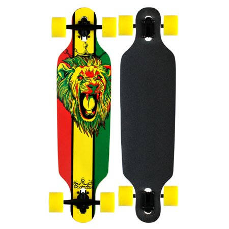 Krown Elite Longboard Rasta Lion White Drop -