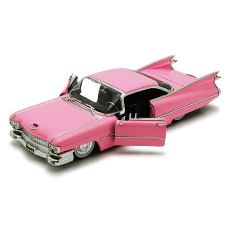 1959 Cadillac Coupe De Ville, Pink - Jada Toys Bigtime Kustoms 50667 - 1/24 scale Diecast Model Toy Car (Brand New, but NOT IN BOX)