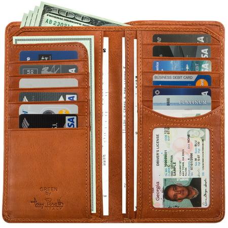 Breast Secretary Mens Wallet (Tony Perotti Italy Green Prima Secretary Men's Bi-Fold Breast Pocket Wallet)