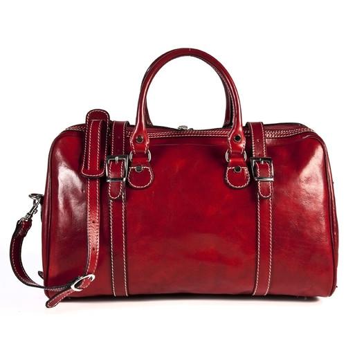 Tony Perotti Milano 18'' Italian Leather Weekender Duffel