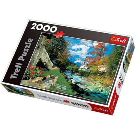Jigsaw Parts - Bavarian Alps Germany Jigsaw Puzzle (2000 Piece), Puzzle consisting of 2000 parts By Trefl
