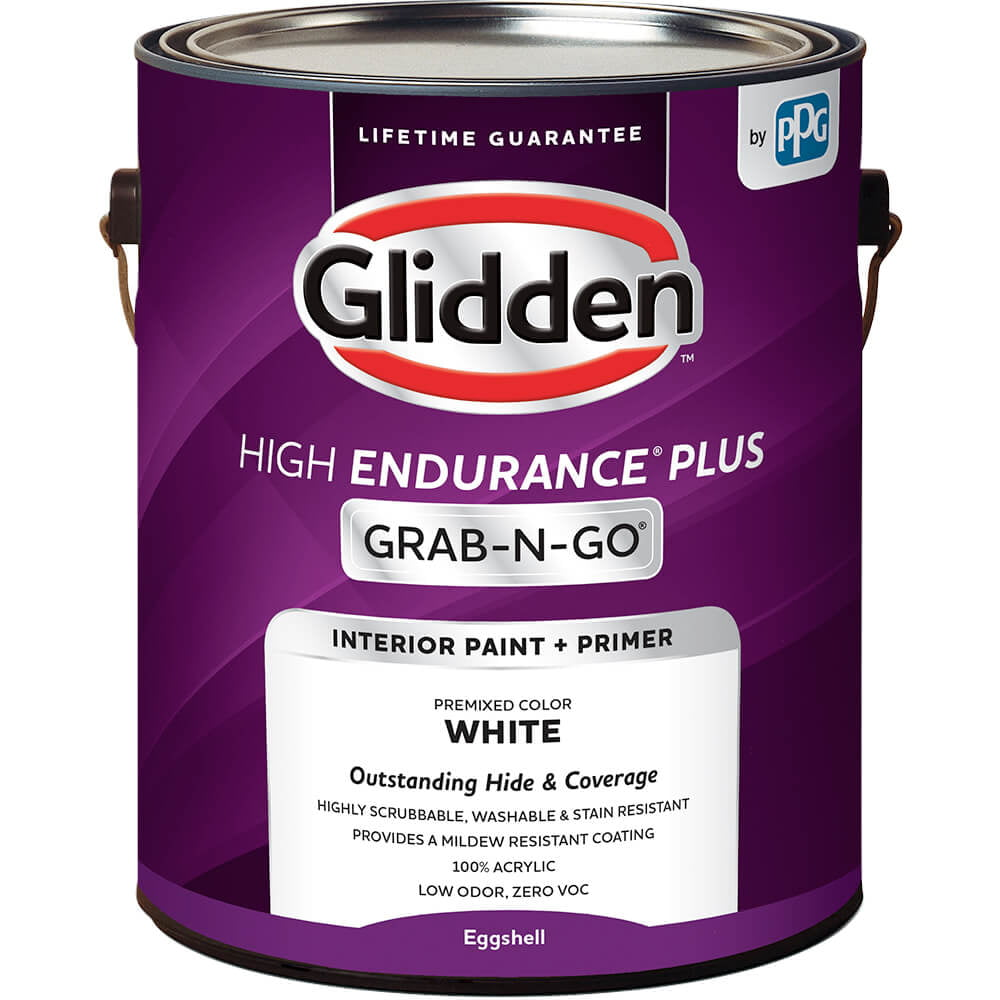 Glidden High Endurance Plus Grab N Go Eggshell Interior Paint Primer White 1 Gallon Walmart Com Walmart Com