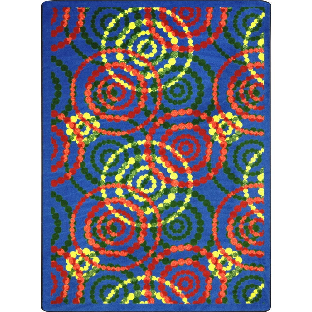 "Joy Carpets Kid Essentials - Teen Area Rugs Dottie, 5'4"" ..."