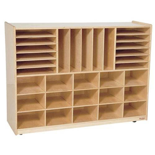 Wood Designs 14009LG Multi-Storage With 15 Trays, Lime Green