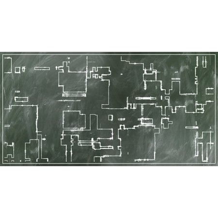 LAMINATED POSTER Sketch Board Building Floor Plan Escape Route Poster Print 24 x 36](100 Floors Escape Halloween Level 8)