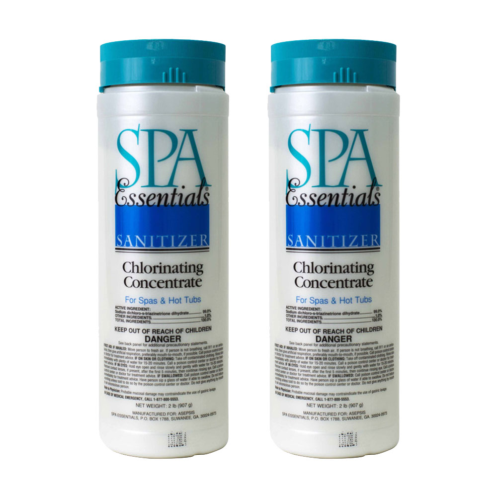 Spa Essentials Chlorinating Concentrate Granules for Spas and Hot Tubs, 2-Pounds by Spa Essentials