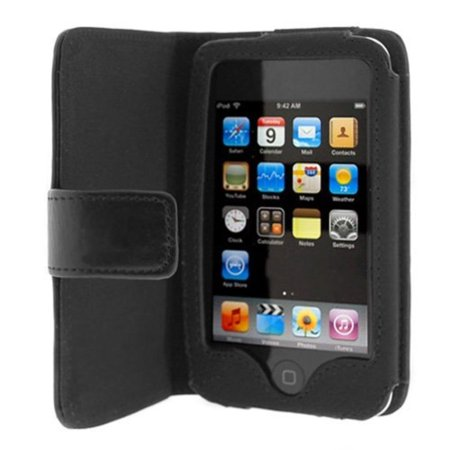 - Folio Wallet Leather Case for Apple iPod Touch 3rd Generation (Black), Brand new non-OEM. High quality soft durable leather material + Free Screen.., By Importer520,USA