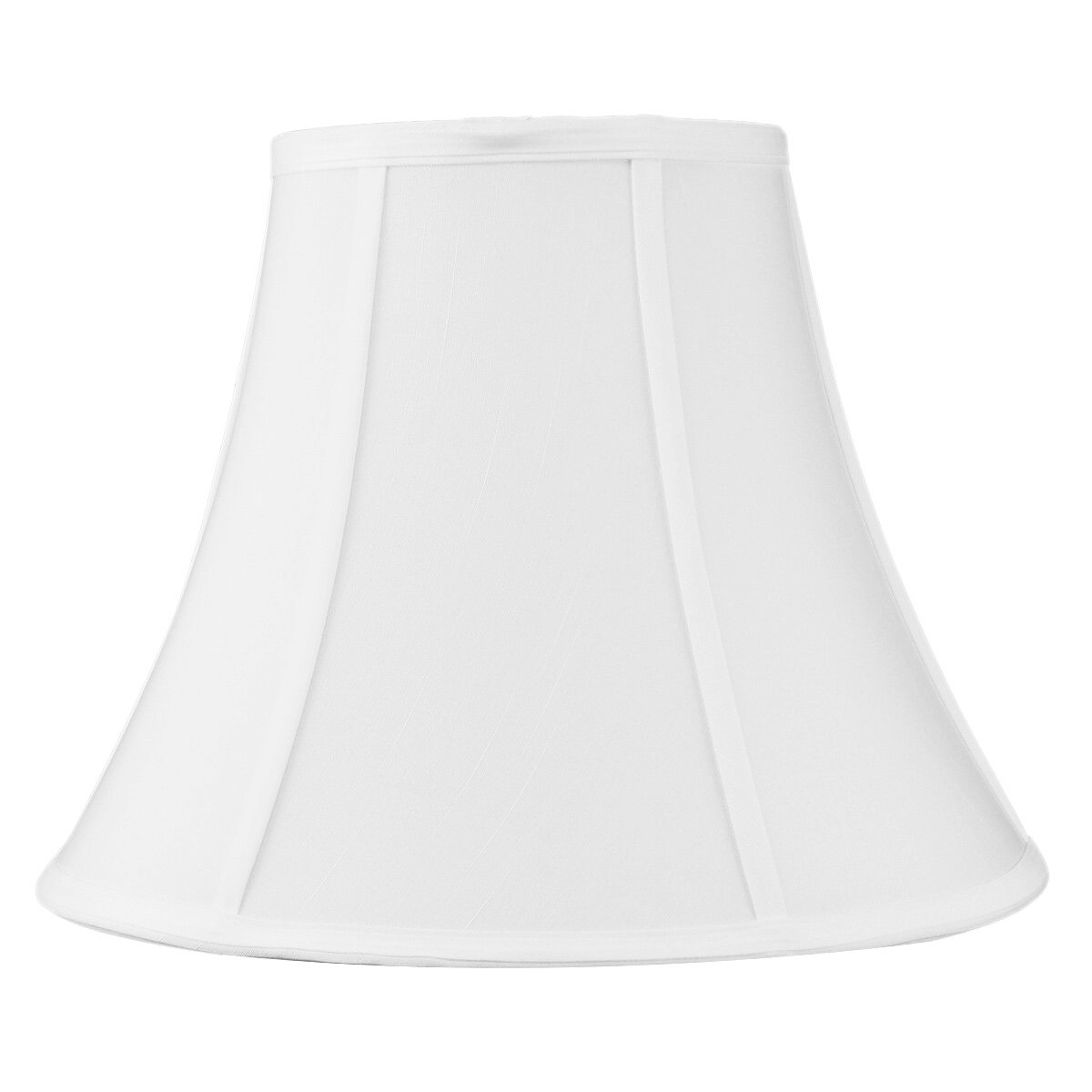 7x14x11 White Bell Shantung Lampshade by Home Concept