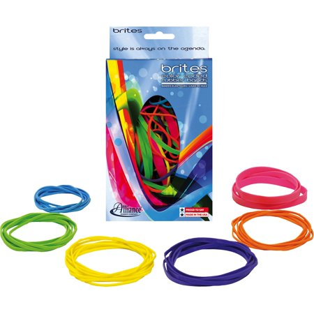 (4 Pack) Alliance Brites Pic Pac Rubber Bands, 1.5 oz Box - Colored Rubber Bands