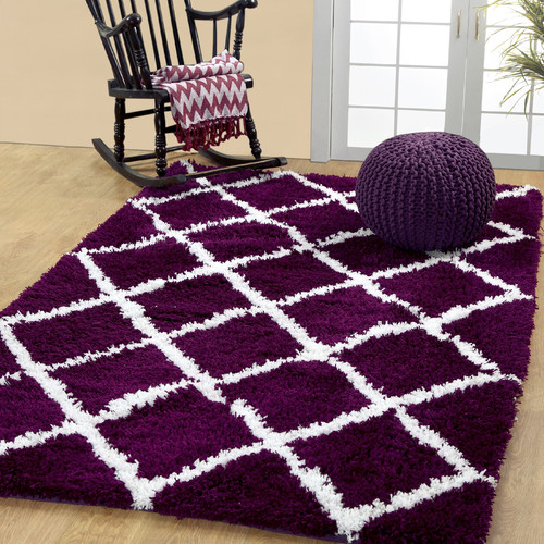 Affinity Linens Hand-Woven Plum Area Rug