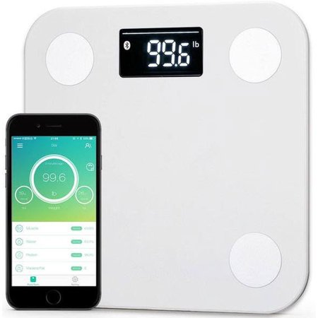 Yunmai Bluetooth 4.0 Smart Scale with Extra Large Display for Body Fat Monitor & Body Composition Measurement with Smartphone App -