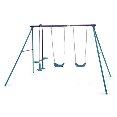 Plum Jupiter Double Swing and Glider Metal Swing Set Now $79 (Was $139.99)