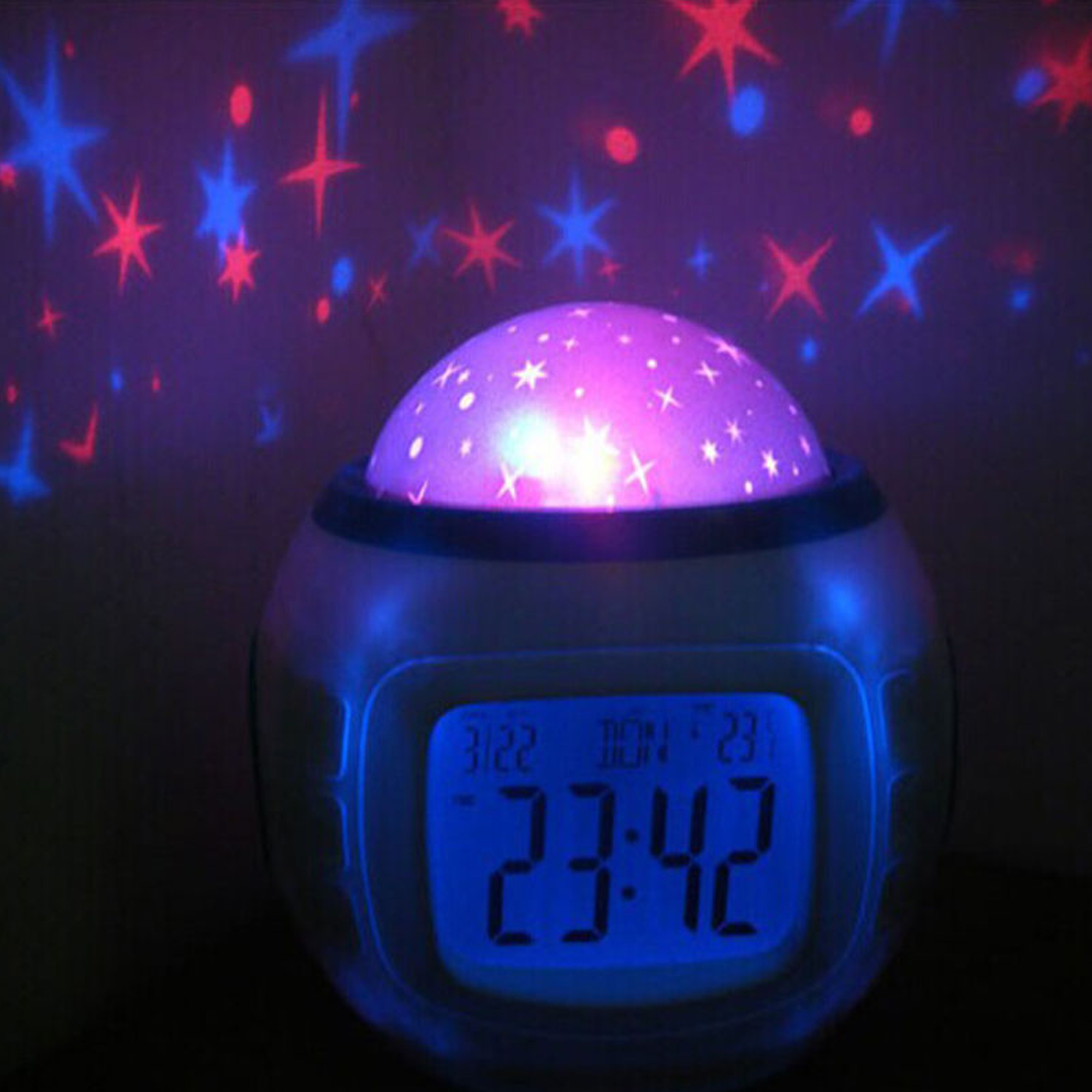 Dteck Children Baby Room Sky Star Night Light Projector Lamp Bedroom Music Alarm  Clock   Walmart com. Dteck Children Baby Room Sky Star Night Light Projector Lamp