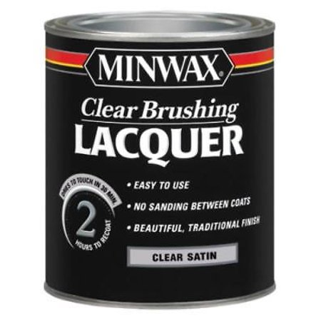 (QT Clear Satin Brushing Lacquer Protective Finish For Wood & Metal)