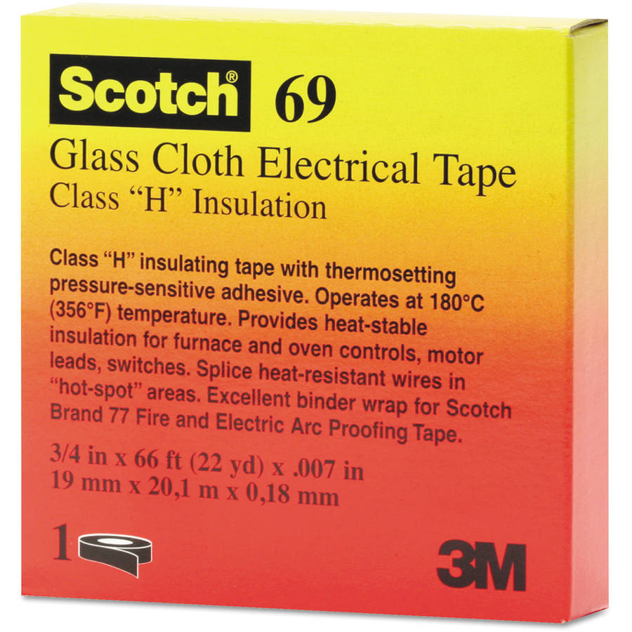 "3M Scotch 69 Glass Cloth Electrical Tape, 3/4"" x 66'"