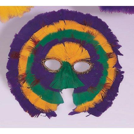 Feather Half Mask