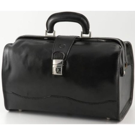 """Image of Alberto Bellucci Verona Giotto 14.75"""" Leather Carry-On Duffel"""