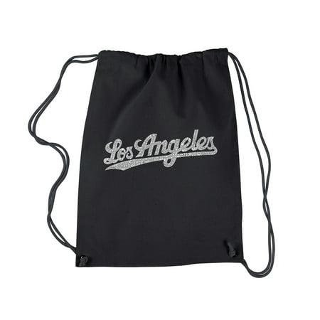LA Pop Art Drawstring Backpack - LOS ANGELES NEIGHBORHOODS Los Angeles Trolley