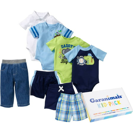 Garanimals Newborn Baby Boys Kid Pack Mix And Match 8 Piece Gift Box