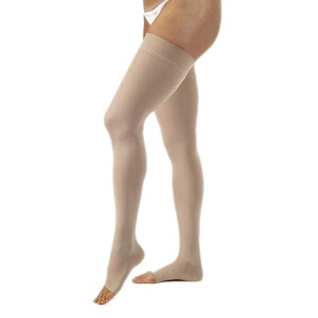 Jobst Opaque 30-40 mmHg XL Natural Thigh High Silicone Dot Open Toe Band