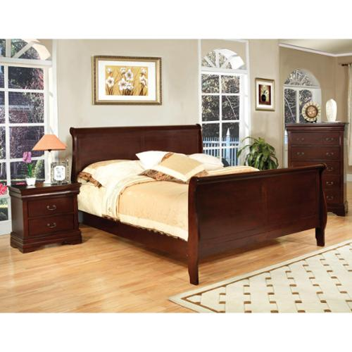 Furniture of America Dellise Transitional Paneled Sleigh Bed by Overstock
