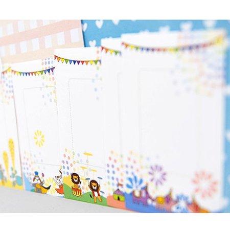 10 PCS Animal Circus Pattern Films Sticker For FujiFilm Instax Mini 8 7s 25 50s