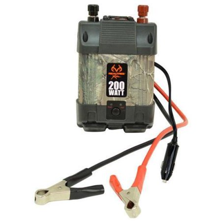 Realtree Xtra 200W Dual Power Inverter with USB Realtree Camo Pattern