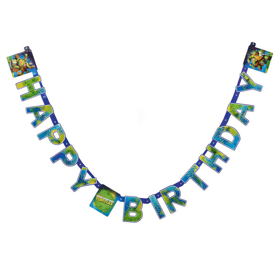 Teenage Mutant Ninja Turtles Birthday Party Banner, Party Supplies