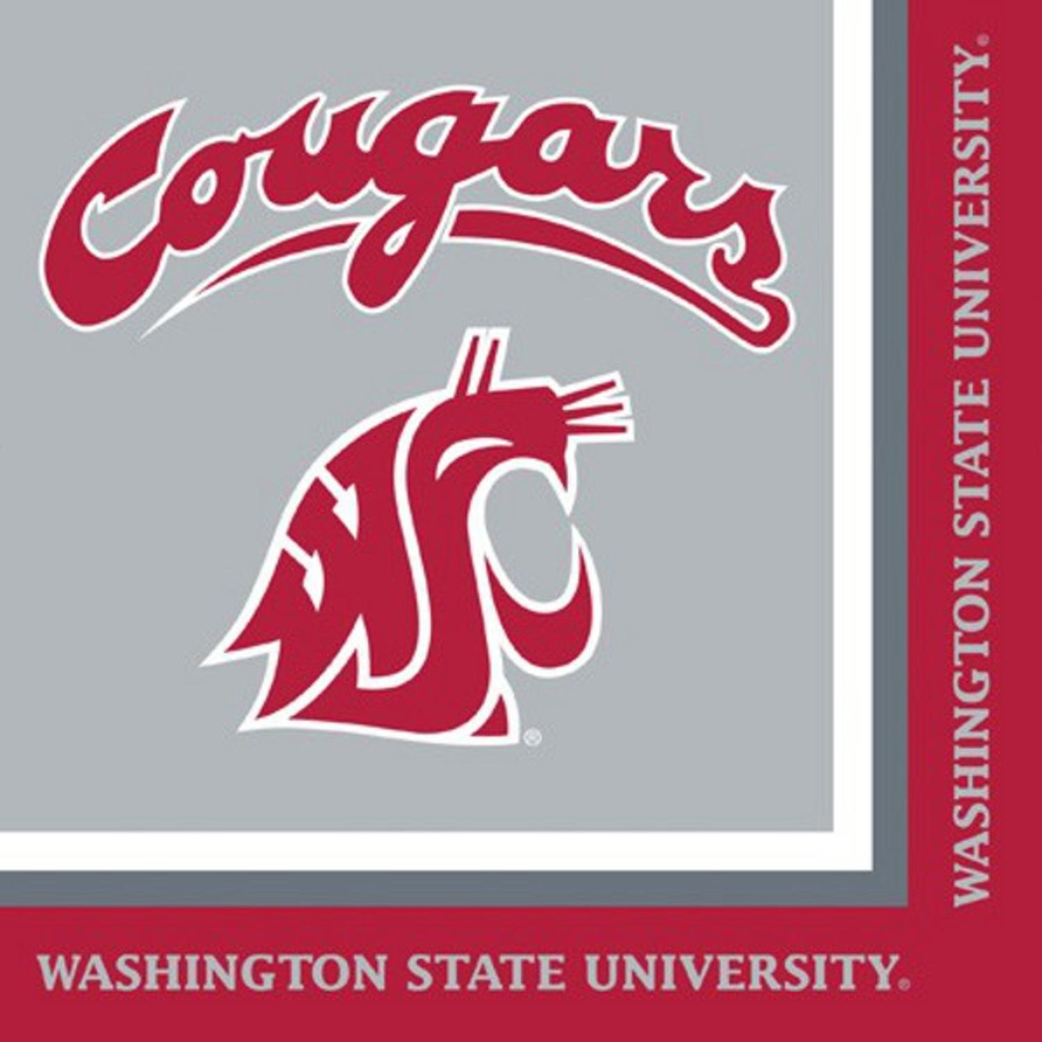 Pack of 240 NCAA Washington State Cougars 2-Ply Tailgating Party Lunch Napkins