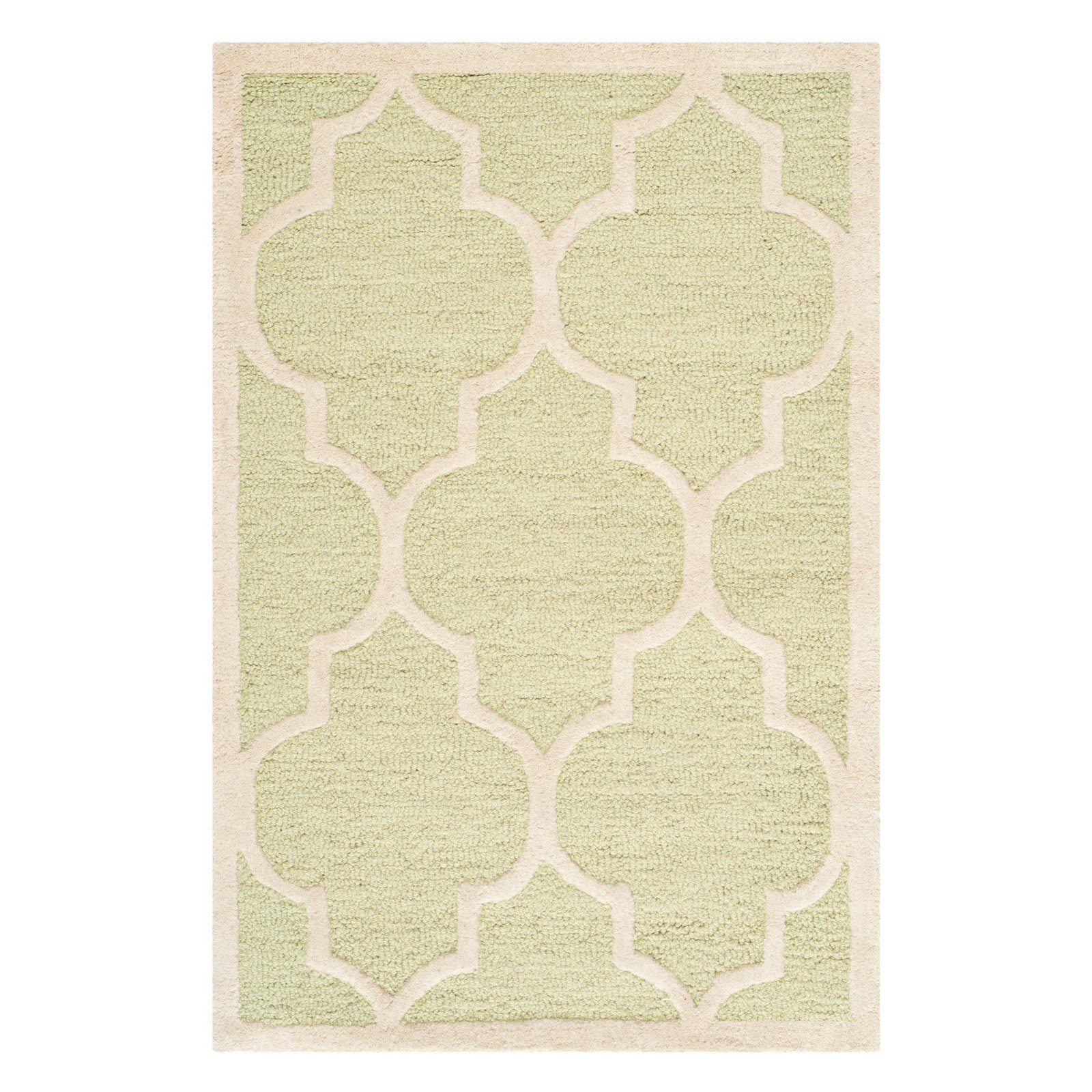 Safavieh Durable Handmade Cambridge Moroccan Light Green Wool Rug