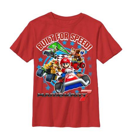 Nintendo Boys' Mario Kart Built For Speed T-Shirt - Mario Kart Onesie
