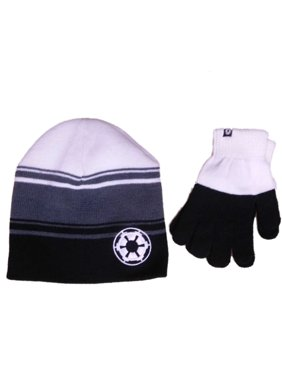 37f79b950c8cf Product Image Star Wars Boys Black   White 2-Piece Galactic Empire Beanie  Hat   Gloves Set